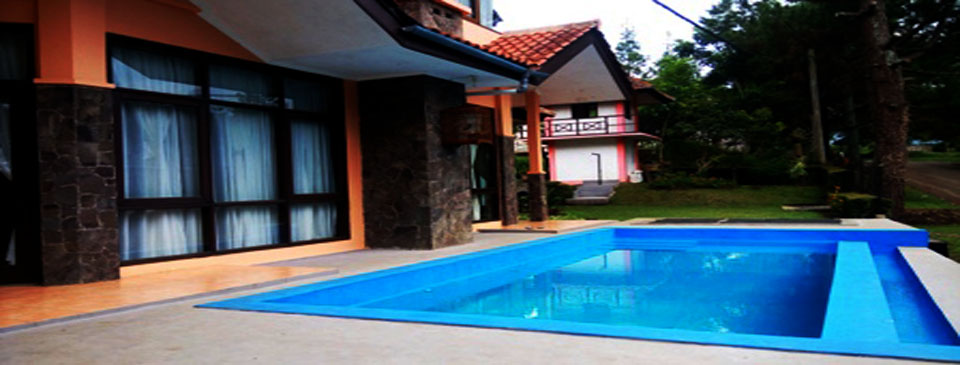 villa 5 kamar private pool trinity lembang